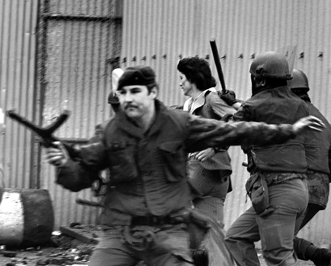 British army on patrol in Belfast in the 1970s