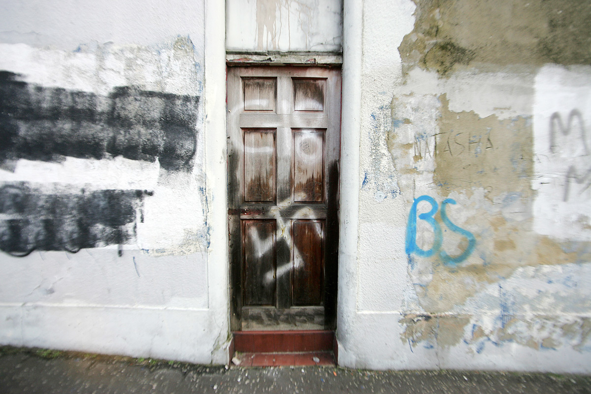 Graffiti daubed on the home of a Chinese family on the upper Crumlin Road in 2012