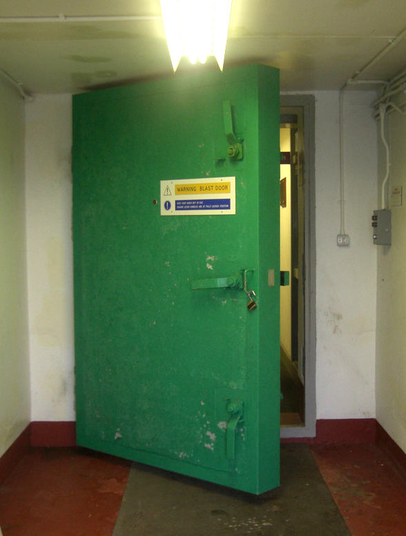 A blast door entrance at the Ballymena bunker