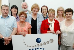 Belfast Mental Health Rights Group with PPR founder the late Inez McCormack