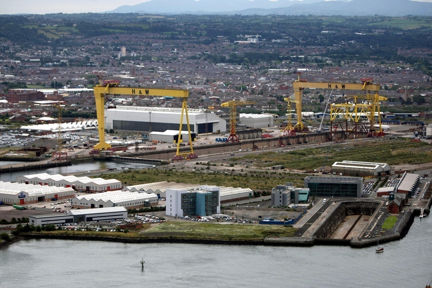 Belfast's Titanic Quarter, home to some of Northern Ireland's largest companies.  Photo by Press Eye.