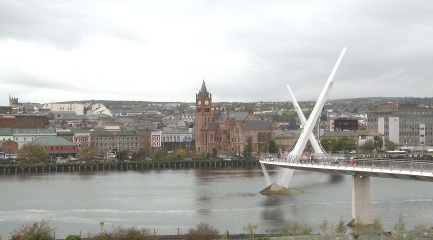 Derry/L'derry city - one of the areas in the west of NI that has raised concerns around economic development