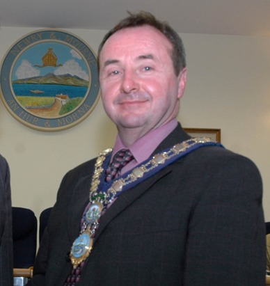 Pat McGinn after being elected Mayor of Newry and Mourne in 2005