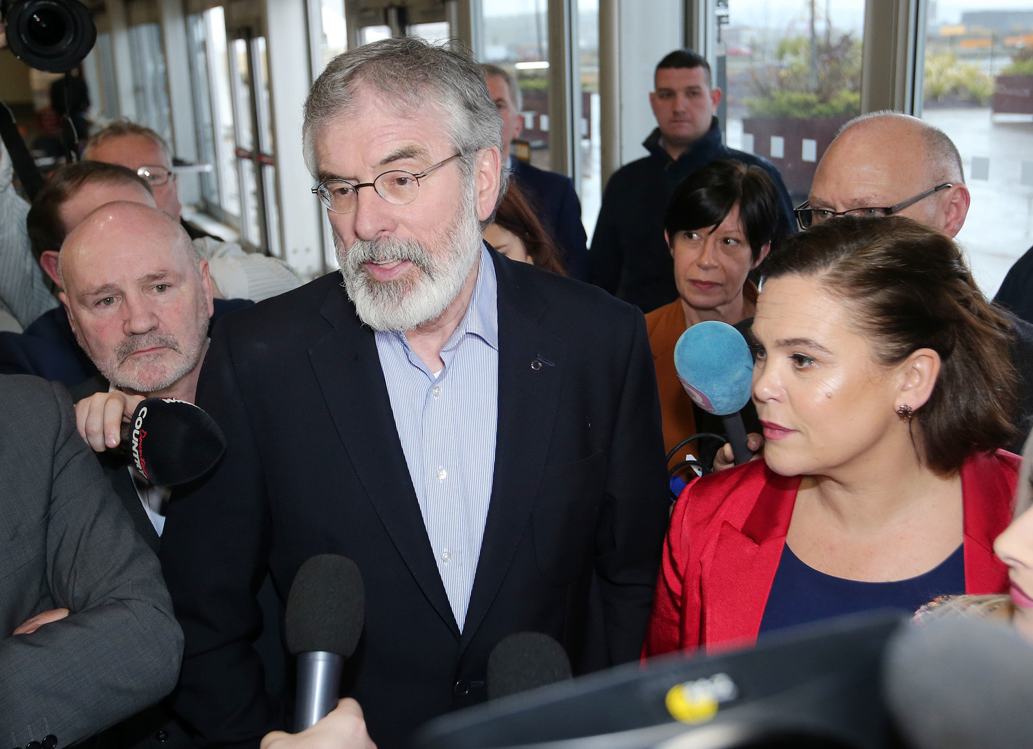 Sinn Féin president Gerry Adams and deputy leader Mary Lou McDonald