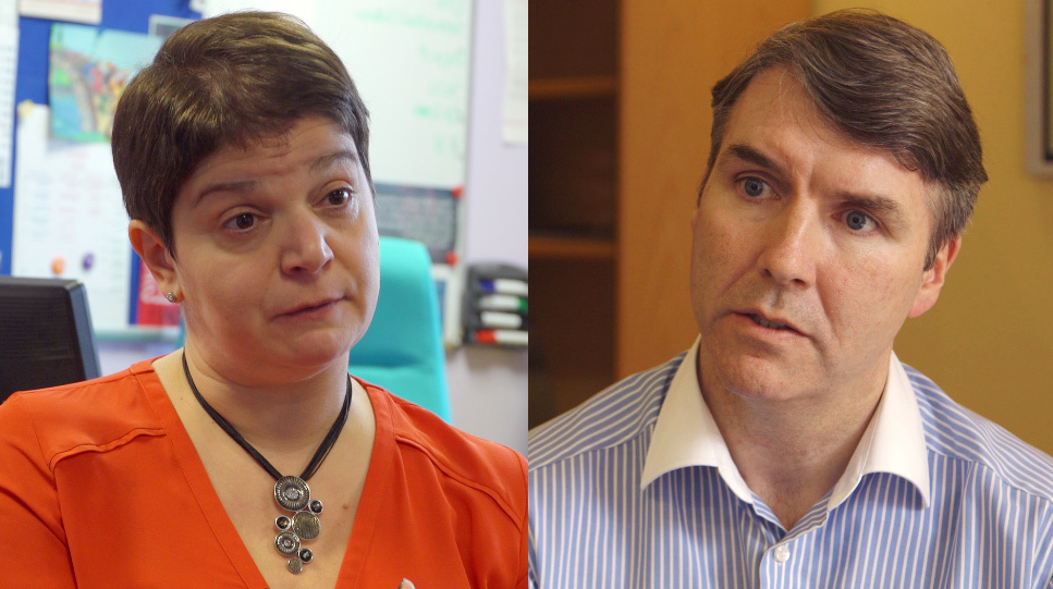 Children's rights watchdogs Koulla Yiasouma and Dr Niall Muldoon
